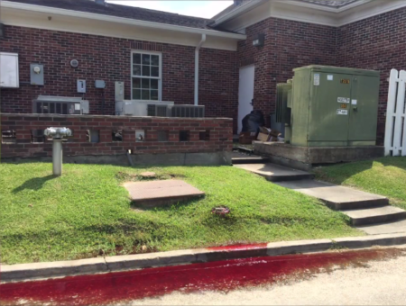 Funeral Home Found Leaking Blood Onto Street