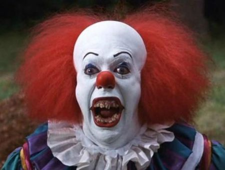 Boy Defends Himself From Scary Clown Prankster With Selfie Stick